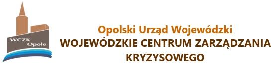 Baner zawierający logo Wojewódzkiego Centrum Zarządzania Kryzysowego w Opolu